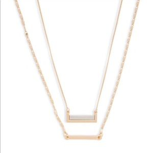 Forever 21 Faux Gold Bar Necklace